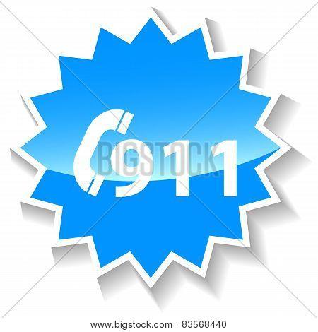 Rescue blue icon