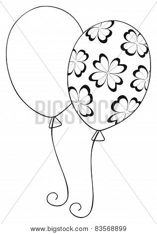Happy Holiday - Balloon With Clovers