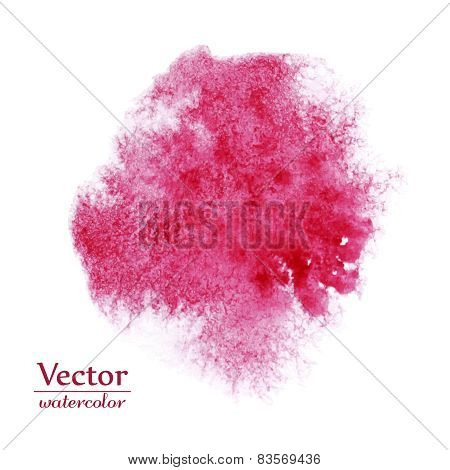 Vector abstract pink blot. Bright ink design