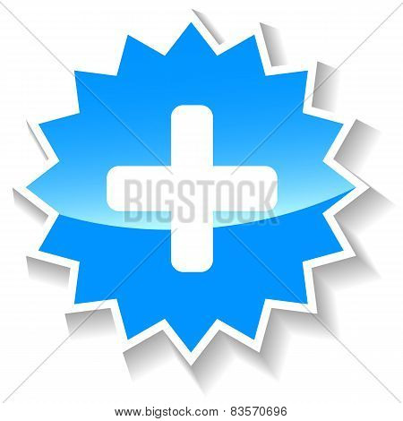 Plus blue icon
