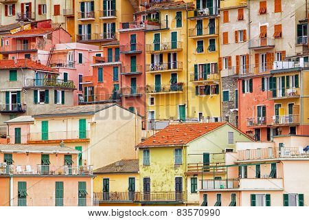 Colourful exteriors in Cinque terre.