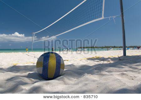 mexico on beach net ball