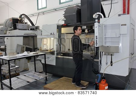 Small Workshop With Machines Cnc