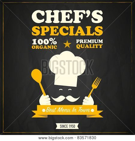 Restaurant chef's specials chalkboard design