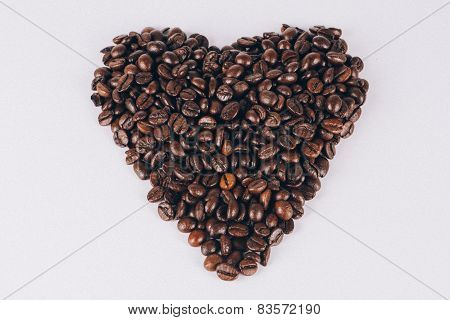 Heart Coffee Beans