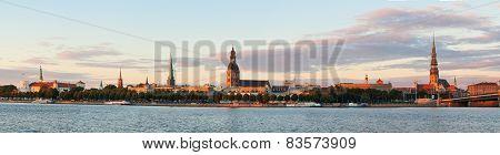 Riga's View At Sunset