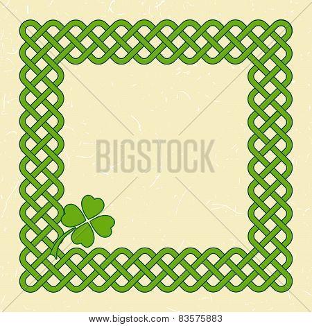 Green Celtic Style Frame