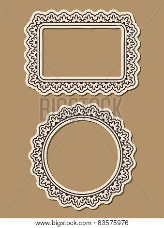 Two Ornate Paper Frames