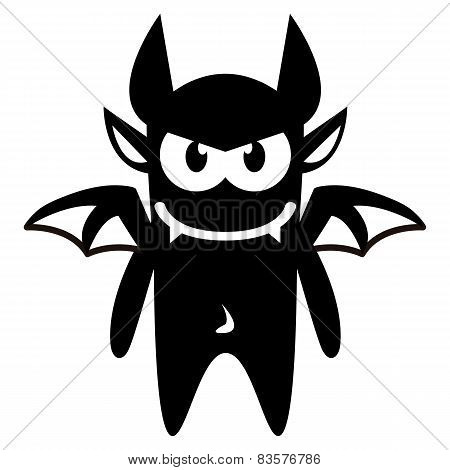 Vector Cartoon Funny Devil Icon Character Isolated