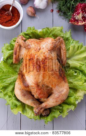 Baked Chicken For Festive Dinner.