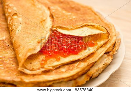Pancake With Caviar
