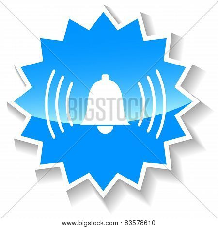 Alarm bell blue icon