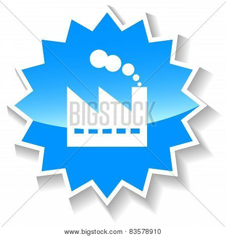 Industrial Plant blue icon
