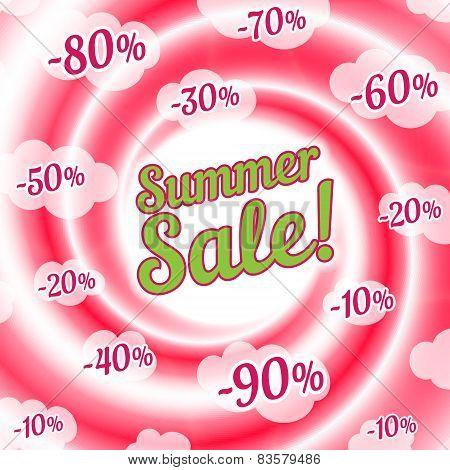 Sale Swirl. Summer Background.