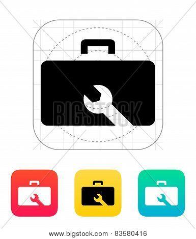 Drone repair kit box icon.