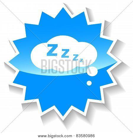 Sleep blue icon