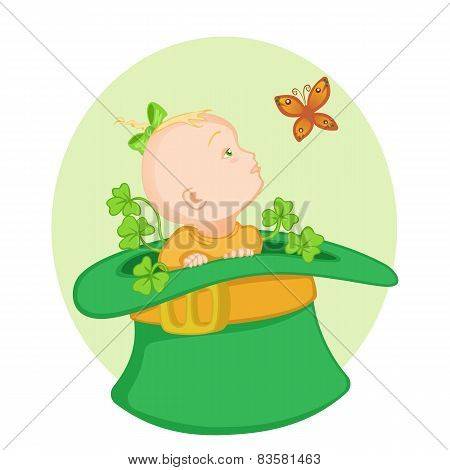 Baby in the Irish hat