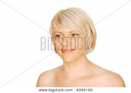 beauty blonde woman