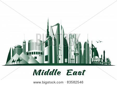 Cities and Famous Buildings in Middle East