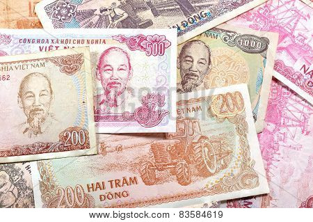 Money From Vietnam, Various Dong Banknotes.