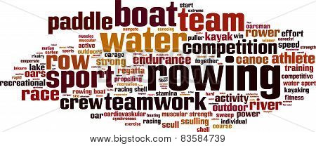 Rowing Word Cloud