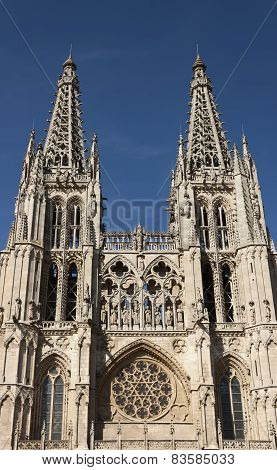 Burgos Cathedra Facade.