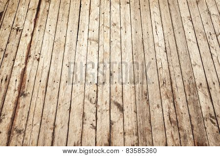 Wooden Floor Background Texture With Perspective