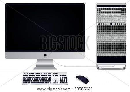 Vector Illustration Of A Modern Pc