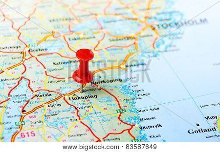 Linkoping ,sweden Map