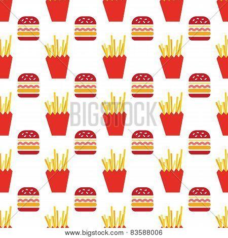 hamburger and fries pattern