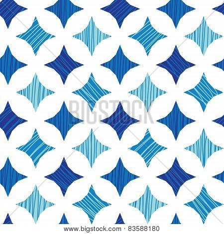 Blue marble tiles seamless pattern background