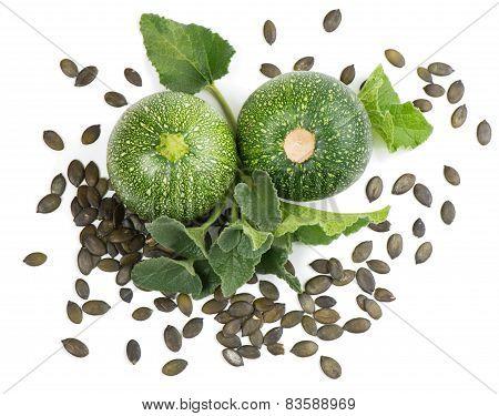 Pumpkin With Seeds, Top View