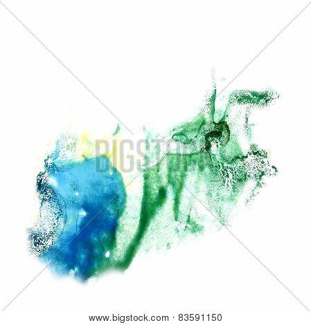 Blot divorce illustration green, yellow, blue artist of handwork