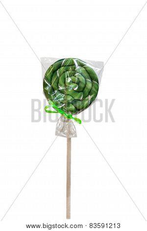 Green lollipop