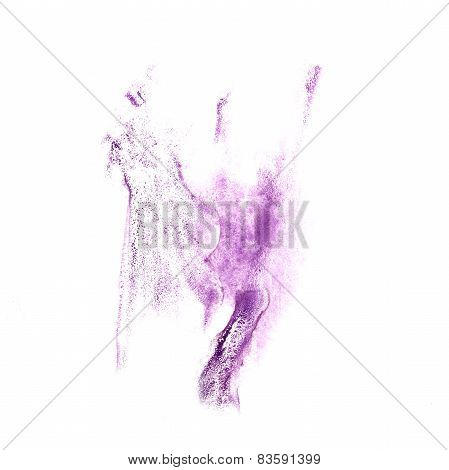 Blot divorce illustration lilac artist of handwork is isolated o