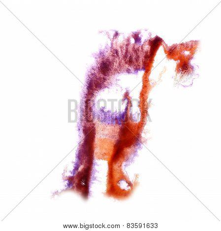 Blot divorce illustration lilac, orange artist of handwork is is