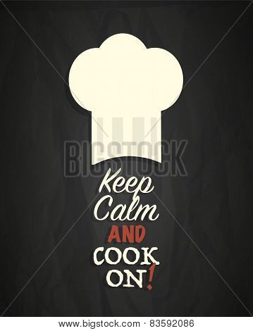 Keep calm and cook on poster