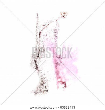 Blot divorce illustration pink, black artist of handwork is isol