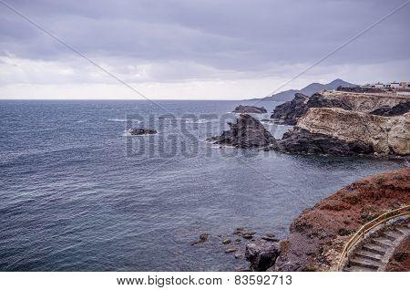Coast With Stormy Sky