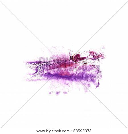 Blot divorce purple illustration artist of handwork is isolated