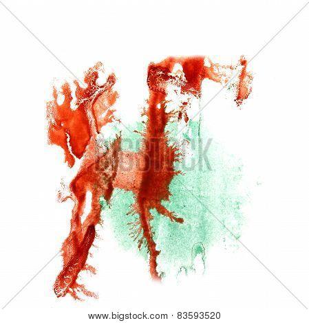 Blot divorce red, green illustration artist of handwork is isola