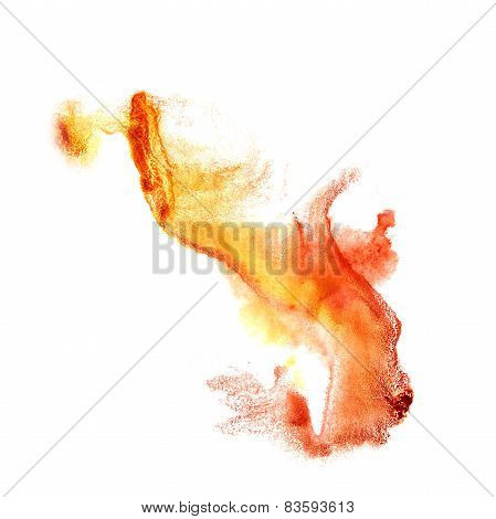 Blot divorce red, yellow illustration artist of handwork is isol