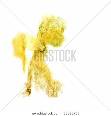Blot divorce yellow illustration artist of handwork is isolated