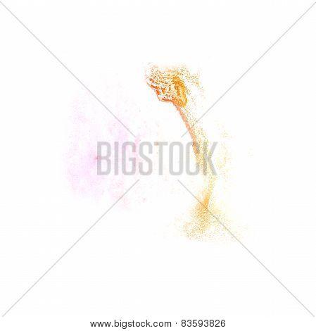 Blot divorce yellow, pink illustration artist of handwork is iso