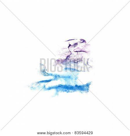 Blot lilac, blue divorce illustration artist of handwork is isol