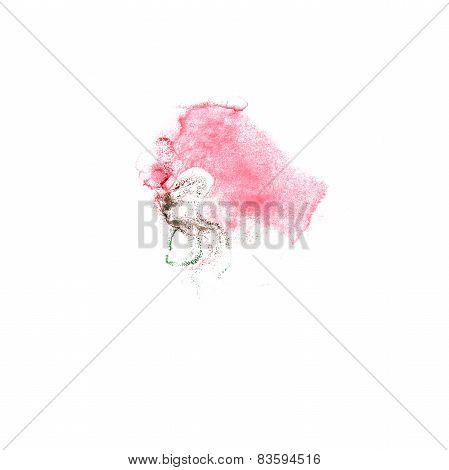 Blot pink, green divorce illustration artist of handwork is isol