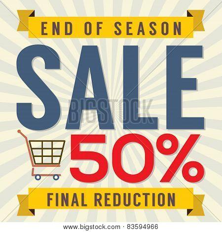 End Of Season Sale Vintage.