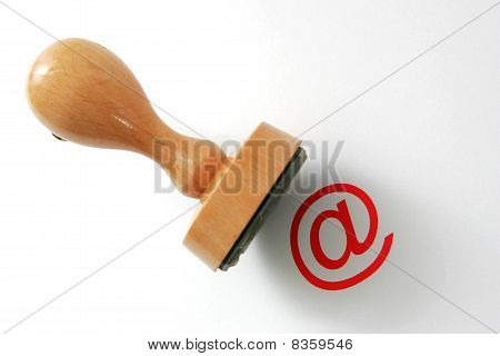 Wooden rubber stamp with