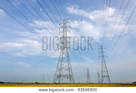 High Voltage Tower, Power Station For Making Electricity