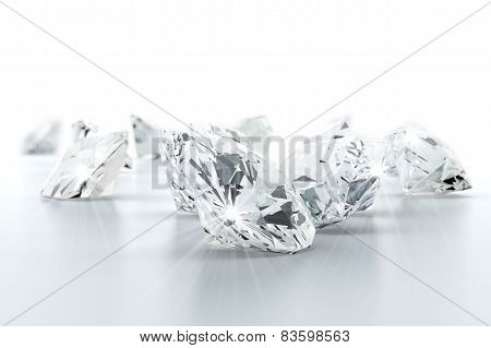 brilliant diamond jewel (high resolution 3D image)
